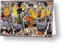 Autumn Walk 1 Greeting Card