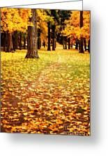 Autumn Walk In Spokane Greeting Card