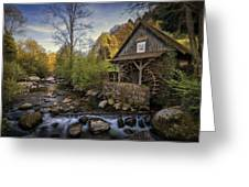 Autumn Water Wheel Greeting Card