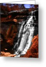 Autumn Waterfall 3 Greeting Card