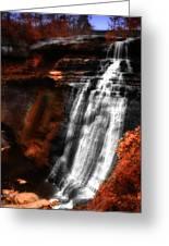 Autumn Waterfall 3 Greeting Card