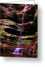 Autumn Waterfall I Greeting Card