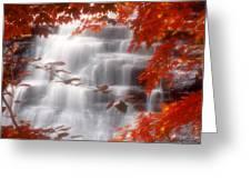 Autumn Waterfall I Greeting Card