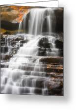 Autumn Waterfall II Greeting Card