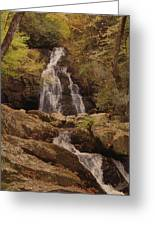 Autumn Waterfall In The Great Smoky Mountains Greeting Card