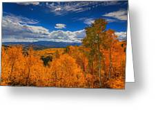 Autumn Wildfire At Ohio Pass Greeting Card