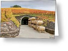 Autumn Wine Cave Greeting Card