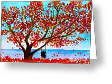 Together In Autumn  Greeting Card