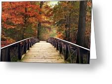 Autumn Woodland Crossing Greeting Card