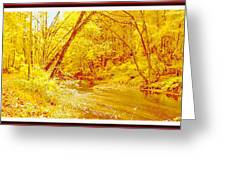 Autumn Woodland Stream Pennsylvania Digital Art Greeting Card