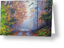 Autumn Woods Greeting Card