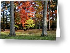 Autumnal Framework Greeting Card