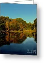 Autumnal Reflecion Greeting Card