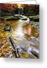 Autumnal Waterfall Greeting Card