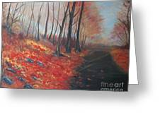 Autumns Pathway Greeting Card