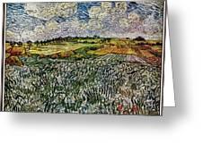 Landscape Auvers28 Greeting Card