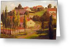 Availles Touarsailles France  Loire Valley Greeting Card