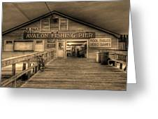 Avalon Fishing Pier Greeting Card