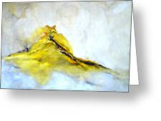 Modern Abstract Painting Avalon Island Greeting Card