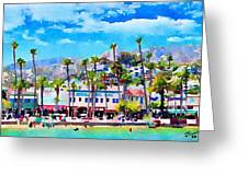 Avalon Waterfront, Catalina Greeting Card