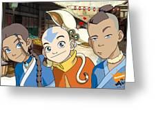 Avatar The Last Airbender Greeting Card