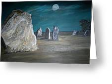Avebury Stone Circle Greeting Card by Tracey Mitchell