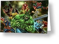 Avengers Greeting Card