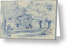 Avenue In A Park Arles, May 1888 Vincent Van Gogh 1853 - 1890 Greeting Card