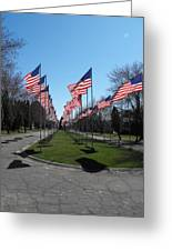 Avenue Of 444 Flags Greeting Card