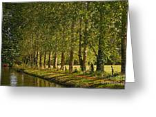 Avenue Of Trees On The Kennet And Avon Canal Greeting Card