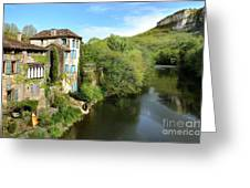 Aveyron River In Saint-antonin-noble-val Greeting Card