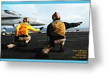 Aviation Art Catus 1 No. 18 H A Greeting Card