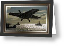 Aviation Art Catus 1 No. 26 L A With Decorative Ornate Printed Frame. Greeting Card