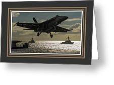 Aviation Art Catus 1 No. 26 L B With Decorative Ornate Printed Frame. Greeting Card