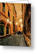 Avignon Alley At Sunset Greeting Card