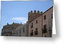 Avila Castle In The Sky Greeting Card