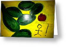 Avocado Man Greeting Card