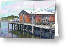Avon Dock Greeting Card