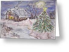 Awaiting Christmas  Greeting Card by Mary Sedici