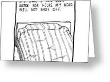 Awake Comic Greeting Card