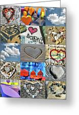Awesome Hearts - Collage Greeting Card