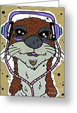 Awesome Otter Greeting Card