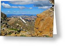 Awesome View From The Mount Massive Summit Greeting Card