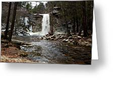 Awosting Falls In January #2 Greeting Card