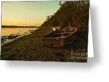 Axe Estuary Boat  Greeting Card