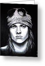 Axl Rose - Welcome To The Jungle Greeting Card