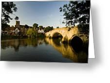 Aylesford Bridge Kent Greeting Card