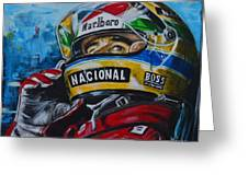 Ayrton, El Mito Greeting Card
