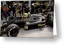 Ayrton Senna. 1986 German Grand Prix Greeting Card