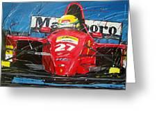 Ayrton Senna Ferrari 27 Greeting Card